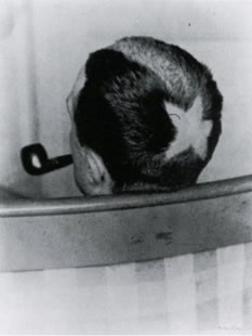 "Man Ray: ""Tonsur"" (Marcel Duchamp), 1919"