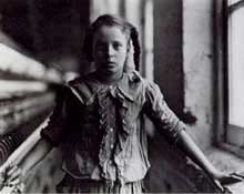"Lewis W. Hine: ""Girl in cotton mill"", 1909"